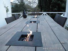 Garten Tisch mit Feuerstellen