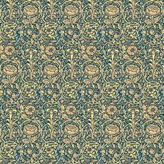 Morris Lily Green fabric by amyvail on Spoonflower - custom fabric.  Grosvenor Gallery, here we come!  Designed 9/2/14.