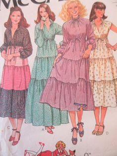 mini Midi MAXI! Vintage McCall's 6319 Sewing Pattern 1970s Dress Pattern