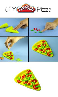 Easy for the kids to create DIY Play-Doh Pizza