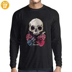 N4604L T-Shirt mit langen Ärmeln Rock'n'Roll (X-Large Schwarz Mehrfarben) - Shirts zum geburtstag (*Partner-Link)