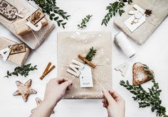 Gift wrapping / Dot paper, letters and Christmas tags                                                                                                                                                                                 More
