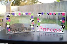 Personalized Acrylic Picture Frame Cheer Princess by rgoldhammer, $9.50