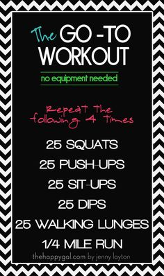 The-Go-To-Workout via The Crafting Chicks