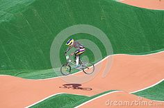 Colombias Mariana Pajon  two-time Olympic gold medalist and BMX World Champion during BMX seeding run at Rio2016 Olympics. Photo taken on Aug 17th, 2016
