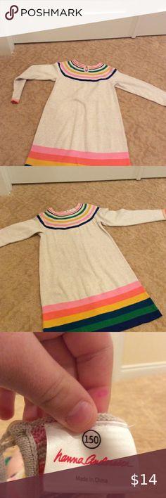 Boys Hanna Andersson Orange//Grey Stripe Pajamas Long Johns Size 150 12 EUC