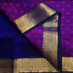 Buy SC4300029-VARNAM Handwoven Silkcotton-Partly Style-Deep blue pink beauty, 850g online - Handwoven Kanchivarams,Soft Silks, Silk Cottons and Tussars!