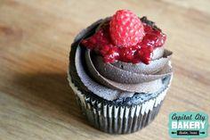Raspberry Blackout Cupcake
