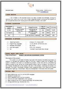 Sample Template of B Tech Computer Science Fresher Resume Sample with Excellent… Cv Resume Sample, Job Resume Format, Resume Format Download, Resume Pdf, Cv Format, Cover Letter Template, Cv Template, Resume Templates, Letter Templates