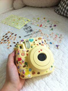 I can sticker bomb tf outta mine too. Poloroid Camera, Polaroid Instax, Instax Mini Camera, Instax Mini 8, Fujifilm Instax Mini, Vintage Polaroid Camera, Camera Art, Camara Fujifilm, Polaroid Pictures