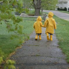walking in the rain with the one you love