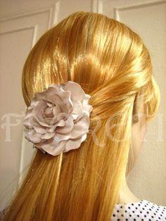 Gardenia Bridal Hair Clip Silk Flower Wedding Accessory in Seashell | Floreti - Wedding on ArtFire. weddings, jewelry, pink, hair, clip, prom, corsage, flowers, white, wedding, couture, accessories ArtFire wedding team, gardenia. $46.17