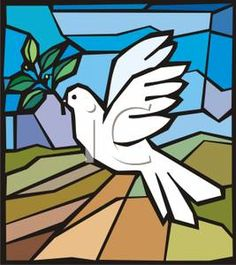 A Dove with an Olive Branch In Its Mouth Clipart Picture Dove With Olive Branch, Mosaic Animals, Peace Dove, Hobbies And Crafts, Stained Glass, Clip Art, Birds, Hobby Craft, Bird