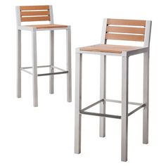 Threshold™ Bryant Faux Wood Patio 2-Piece Bar Stool Furniture Set