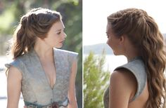 Game of Thrones Hair Designer Answers All Our Pressing Questions - Fashionista. Like this hairdo My Hairstyle, Pretty Hairstyles, Wedding Hairstyles, Quinceanera Hairstyles, Wedding Updo, Chignons Glamour, Game Of Thrones Costumes, Hair Game, Hair Dos
