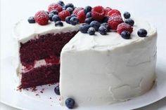 Red Velvet Cake with Raspberries and Blueberries http://www.yummly.com/recipe/Red-Velvet-Cake-with-Raspberries-and-Blueberries-Epicurious-51796