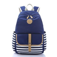 Cheap canvas backpack women, Buy Quality canvas fashion backpack directly from China backpack camera Suppliers: Girl School Backpack Lightweight Striped Canvas School Backpacks for Teenager Girls School Rucksack Bookbags Lace Backpack, Striped Backpack, Rucksack Backpack, Travel Backpack, Girls Rucksack, Travel Bags, Laptop Backpack, Backpacks For Teens School, Backpack For Teens