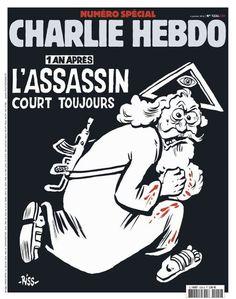 Un an après l'attentat, un Dieu assassin à la « une » de « Charlie Hebdo »