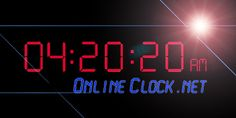 Online Alarm Clock & so much more.  Stop watch, countdowns, etc........  Also a lot fancier than the countdown timer I pinned.......
