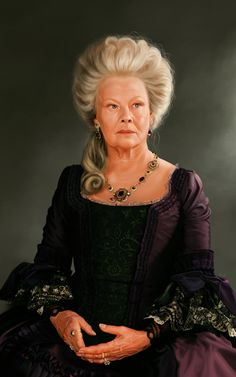 Judi Dench (by Eskarine.deviantart.com on @deviantART) who played as Lady Cathering de Bourgh
