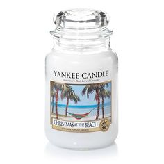 It's a tropical holiday escape with this bright, festive blend of coconut and cilantro. About Large Classic Jar Candles: Here's the perfect siz. Yankee Candle Christmas, Coastal Christmas, Christmas Candles, Candle Lanterns, Jar Candles, Scented Candles, Candels, Yankee Candle Scents, Yankee Candles
