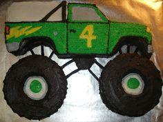Monster Truck Birthday Cake  on Cake Central