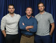 Guy Ritchie, Armie Hammer, and Henry Cavill