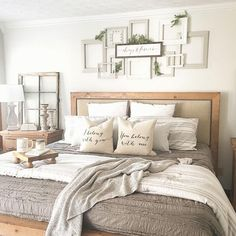 28 Perfect Bedding For Farmhouse Bedroom Design Ideas And Decor. If you are looking for Bedding For Farmhouse Bedroom Design Ideas And Decor, You come to the right place. Below are the Bedding For Fa. Cozy Bedroom, Room Design, Interior, Home Decor, Farmhouse Bedroom Decor, Room Decor, Modern Bedroom, Small Bedroom, Master Bedrooms Decor
