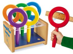 Lakeshore Magnifier Center at Lakeshore Learning Science Tools, Stem Science, Teacher Magazine, Sink Or Float, Science Stations, Happy At Work, Lakeshore Learning, Head Start, School Supplies