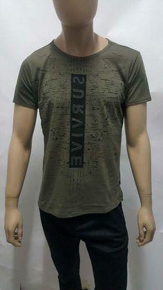 VAD Masculina- Cod. 1030 Cod, Shirt Style, Menswear, Mens Fashion, Mens Tops, T Shirt, T Shirts, Men, Moda Masculina