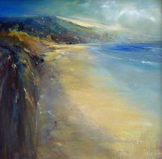 """""""Carbis Bay as remembered in a dream"""" Oil painting by Steve Slimm Cornish artist"""