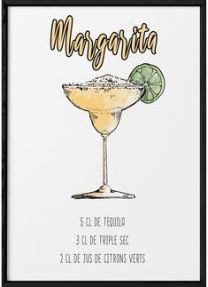 Cocktail Margarita, Cocktail Shots, Cocktail Menu, Cocktail Recipes, Refreshing Drinks, Summer Drinks, Cocktail Simple, Cocktails Vin, Cocktail Illustration
