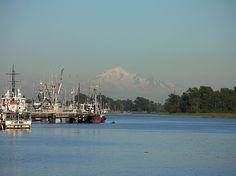 Mount Baker looms over Steveston