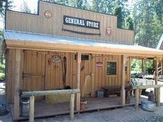 Top quality storage sheds from Sturdy Built Sheds Rustic Shed, Wood Shed, Shed Storage, Built In Storage, Tack Room Organization, Old West Town, Old Western Towns, Horse Shelter, Westerns