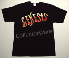 GENESIS band logo 1 CUSTOM ART UNIQUE T-SHIRT  Each T-shirt is individually hand-painted, a true and unique work of art indeed!  To order this, or design your own custom T-shirt, please contact us at info@collectorware.com, or visit  http://www.collectorware.com/tees-genesis_andrelated.htm