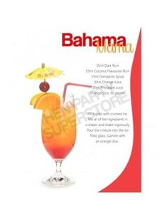 Bahama Mama Cocktail Recipe