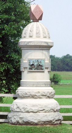 Photo of the 63rd Pennsylvania monument at Gettysburg