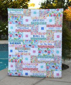 Free Quilt Pattern- My Favorite Beach Quilt by Jedi Craft Girl
