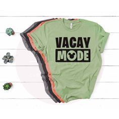 Vacay Mode • Disney Vacation Soft Cotton Tee - Adult Unisex X-Large / Green