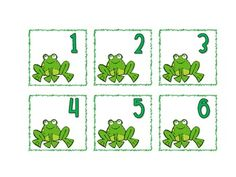 Froggie themed calendar cards.   Monthly header cards for all months.   Three different sets of calendar card pieces 1-31 --  -frog  -lilly pad  -leaping frog   Includes 3 birthday cards.   Holiday cards also included.