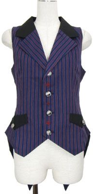 Stylish vest ~ It makes me want to walk into a casino wearing it or something