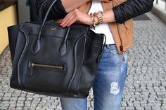 Celine Mini Luggage, Celine Handbags, Celine Bag, Glamour Beauty, Passion For Fashion, Fall Outfits, Vogue, Purses, My Style
