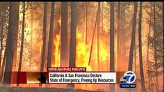 Rim Fire spreading out of control near Yosemite