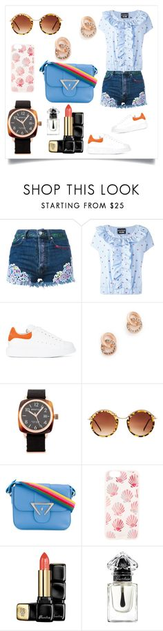 """""""Denim Short..**"""" by yagna ❤ liked on Polyvore featuring Forte Couture, Boutique Moschino, Alexander McQueen, Kate Spade, Briston, Spitfire, Sara Battaglia, Sonix, Guerlain and vintage"""