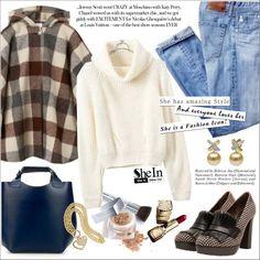 SheIn Turtleneck Crop Beige Sweater by ceci-alva on Polyvore featuring moda, Marni, Zara, Christian Dior and Guerlain