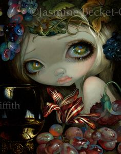 Stilleven 5: Roemer - Strangeling: The Art of Jasmine Becket-Griffith -  11x14 Acrylic painting on panel - original SOLD - prints & canvases are here:  http://www.strangeling.com/shop/fairy-art-prints/stilleven-5-roemer-2/