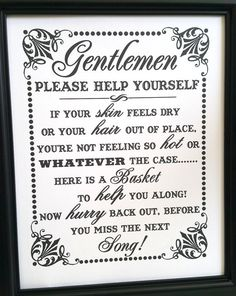 Bathroom Signs Wedding diy bathroom baskets including free template for signs | rounding
