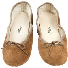E. Porselli Ballet Flat ❤ liked on Polyvore featuring shoes, flats, ballet pumps, ballerina pumps, ballet shoes flats, ballet flat shoes and ballerina flat shoes