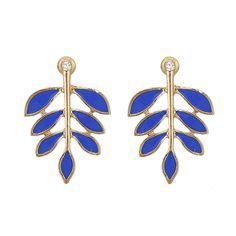 Fashion New Women Blue Leaves Stud Earrings Color Optional[US$1.93],shop cheap fashion jewelry at www.favorwe.com