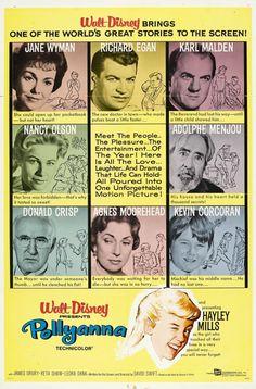 The Disney Films: Pollyanna 1960 movie poster Classic Disney Movies, Turner Classic Movies, Walt Disney, Disney Love, Disney Movie Posters, Disney Films, Film Posters, Karl Malden, Jane Wyman